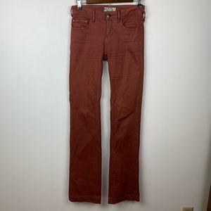 FREE PEOPLE Rust Orange Flared Pants